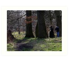 Period drama in the woods  Art Print