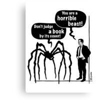 Cartoon: Horrible Beast / Don't judge a book by its cover! Canvas Print