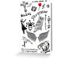 Justin Bieber Tattoos 2016 Greeting Card