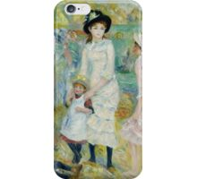 Auguste Renoir - Children on the Seashore, Guernsey about 1883 iPhone Case/Skin