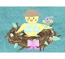 Easter/ Spring Chick Photographic Print