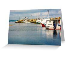Fishing Boats at Feltzen South Greeting Card