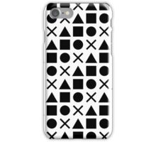 Gamer Pattern Solid Black on White iPhone Case/Skin