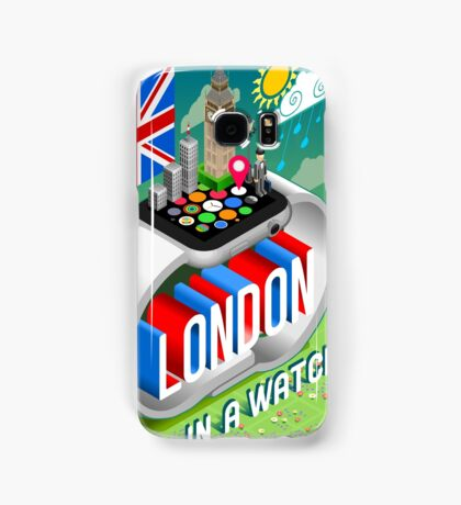 London-UK-Watch-Concept-Isometric Samsung Galaxy Case/Skin