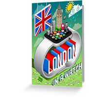 London-UK-Watch-Concept-Isometric Greeting Card