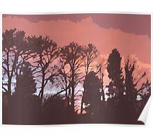 Cutout Sunset Poster