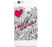 Love-Concept-Sketch-Isometric iPhone Case/Skin