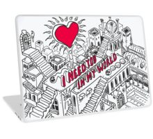 Love-Concept-Sketch-Isometric Laptop Skin