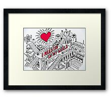 Love-Concept-Sketch-Isometric Framed Print