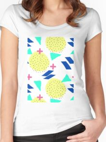 Throwback Abstract 1 Women's Fitted Scoop T-Shirt