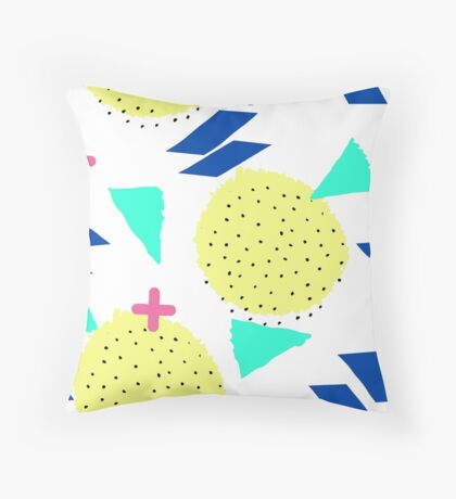 Throwback Abstract 1 Throw Pillow