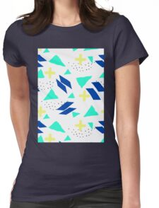 Throwback Abstract 3 Womens Fitted T-Shirt