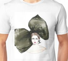 Big Bow - watercolor Illustration - woman portrait  Unisex T-Shirt