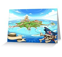 Treasure-Island-Landscape-Fantasy Greeting Card