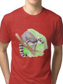 ring-tailed lemur Tri-blend T-Shirt