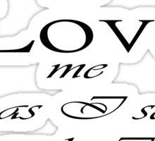 Labyrinth Fear me-love me Sticker