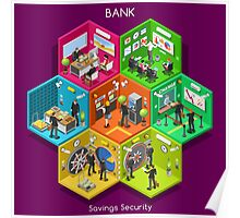 Bank 01 Cells Isometric Poster