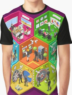 Bank 01 Cells Isometric Graphic T-Shirt