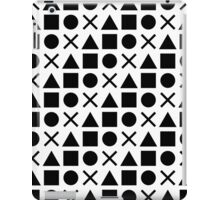 Gamer Pattern Solid Black on White iPad Case/Skin