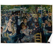 Auguste Renoir - Dance at Le Moulin de la Galette 1876 Poster