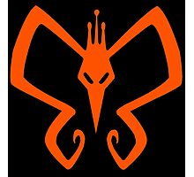 The Venture Brothers - Monarch Logo - Orange Photographic Print