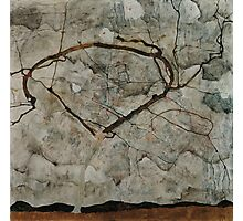 Egon Schiele - Autumn Tree in Stirred Air Winter Tree 1912 Expressionism, Landscape Photographic Print