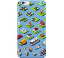 City-01-COMPLETE-Set-Isometric iPhone Case/Skin