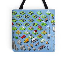 City-01-COMPLETE-Set-Isometric Tote Bag