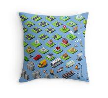 City-01-COMPLETE-Set-Isometric Throw Pillow