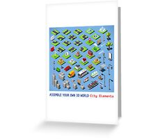 City-01-COMPLETE-Set-Isometric Greeting Card