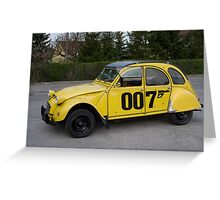 Citroën 2 CV 1981 Special Edition 007 Greeting Card