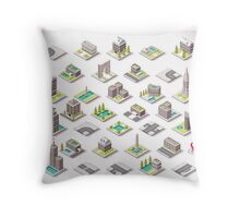 Game-Set-01-Building-Isometric Throw Pillow