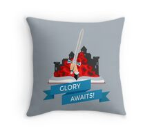 Fantasy Book with Sword Throw Pillow