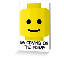 Lego Crying Greeting Card
