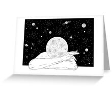 Planet Head Greeting Card