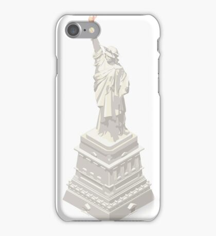 Liberty-Statue-Landmarks-Isometric iPhone Case/Skin