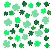 Lucky Four Leaf Clover Pattern Photographic Print