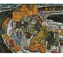 Egon Schiele - Crescent of Houses II Island Town 1915 Egon Schiele   Landscape Photographic Print