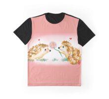 Hedgehog Love- Digital Art Graphic T-Shirt