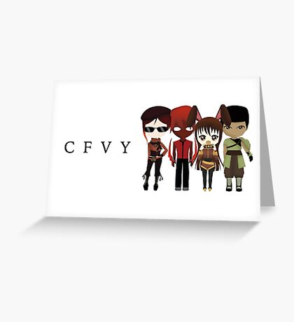 Chibi team CFVY Greeting Card