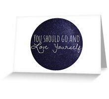justin bieber - love yourself  Greeting Card