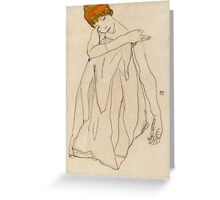 Egon Schiele - Dancer, Die Tanzerin 1913 Egon Schiele ,Woman Portrait Greeting Card