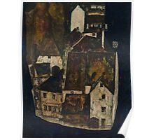 Egon Schiele - Dead City III, City on the Blue River III 1911  Egon Schiele   Landscape Poster