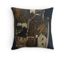 Egon Schiele - Dead City III, City on the Blue River III 1911  Egon Schiele   Landscape Throw Pillow