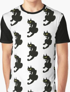 NINJA BLACK CAT Graphic T-Shirt