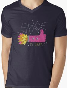 SPACE IS OKAY! Mens V-Neck T-Shirt