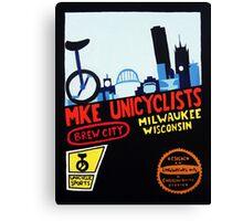 MKE Unicyclists Canvas Print