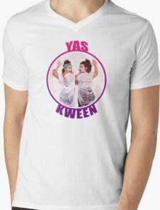 BROAD CITY YAS KWEEN Mens V-Neck T-Shirt