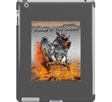 Protected by Fiery Gargoyles iPad Case/Skin