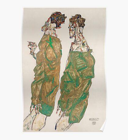 Egon Schiele - Devotion 1913 ,  Man Portrait , Egon Schiele  Poster